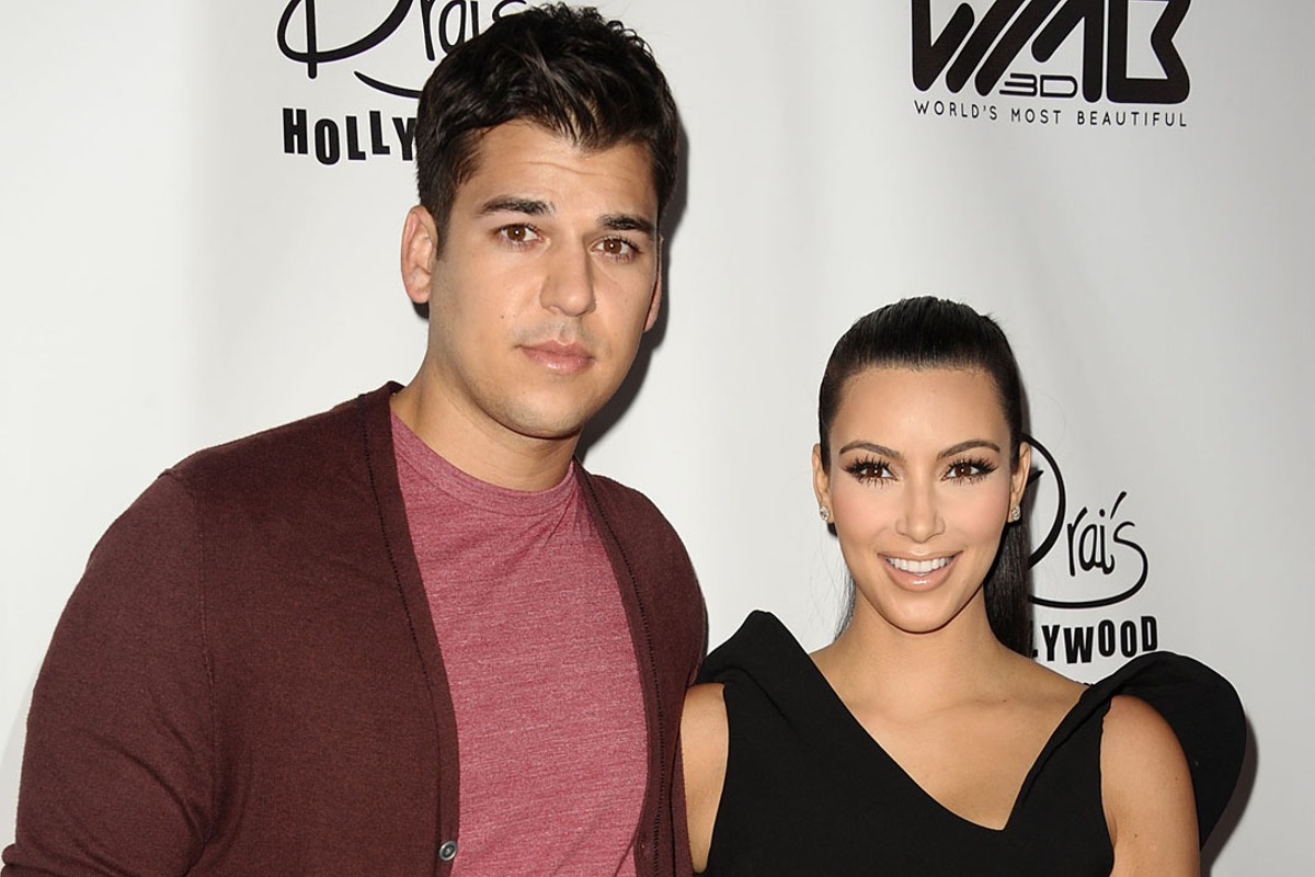 Kim and Rob Kardashian