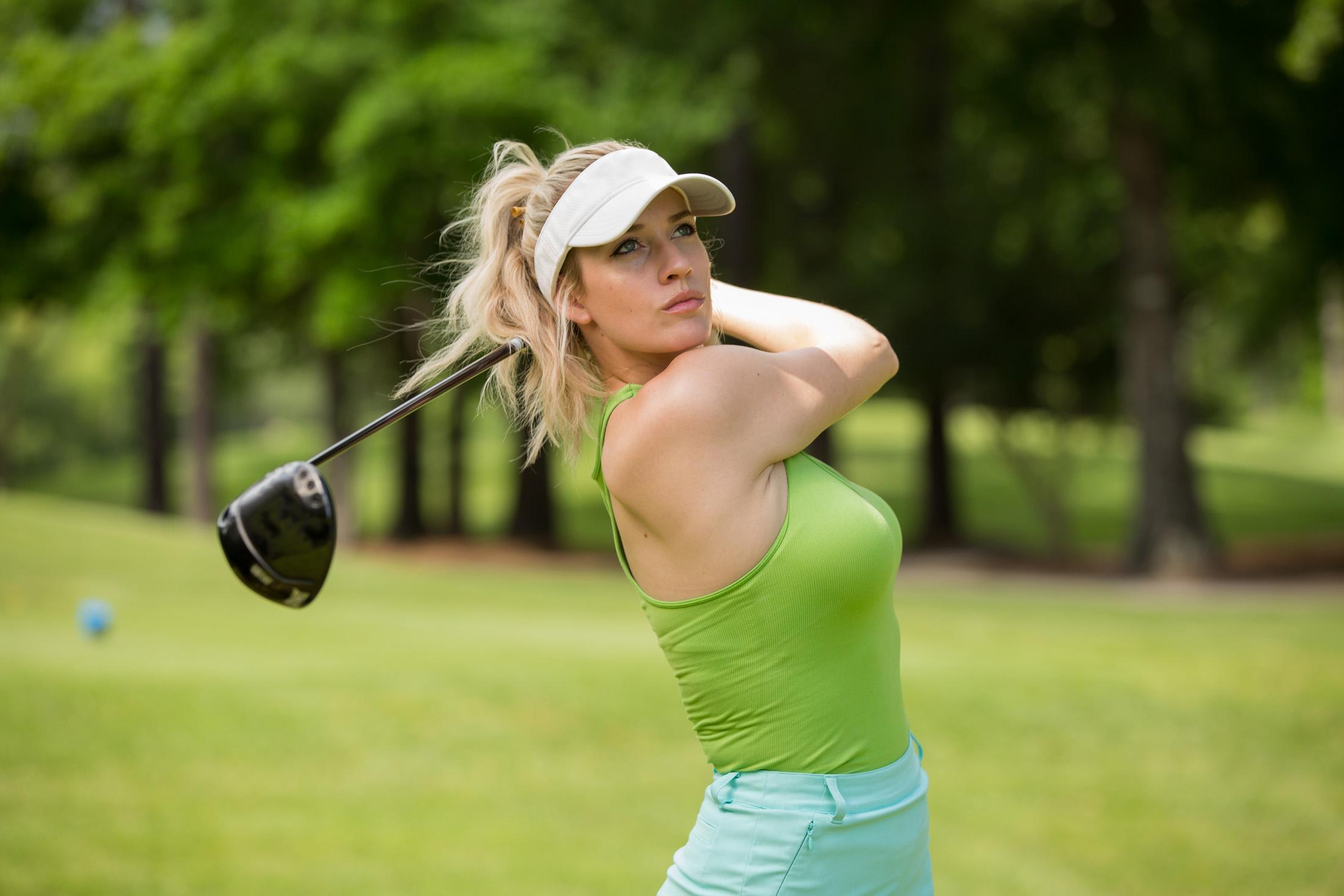 Paige Spiranac golf swing