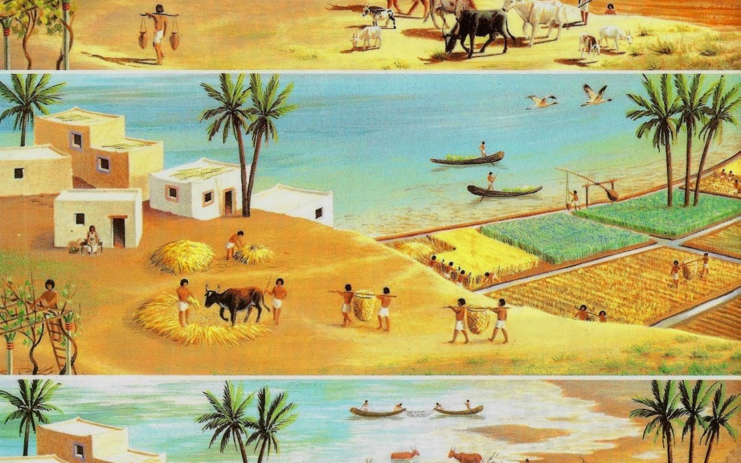 Nile river ancient Egypt farming