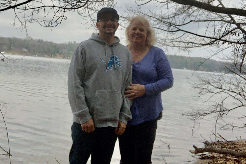 Doug and Lynda McCready celebrating their 50th birthday together