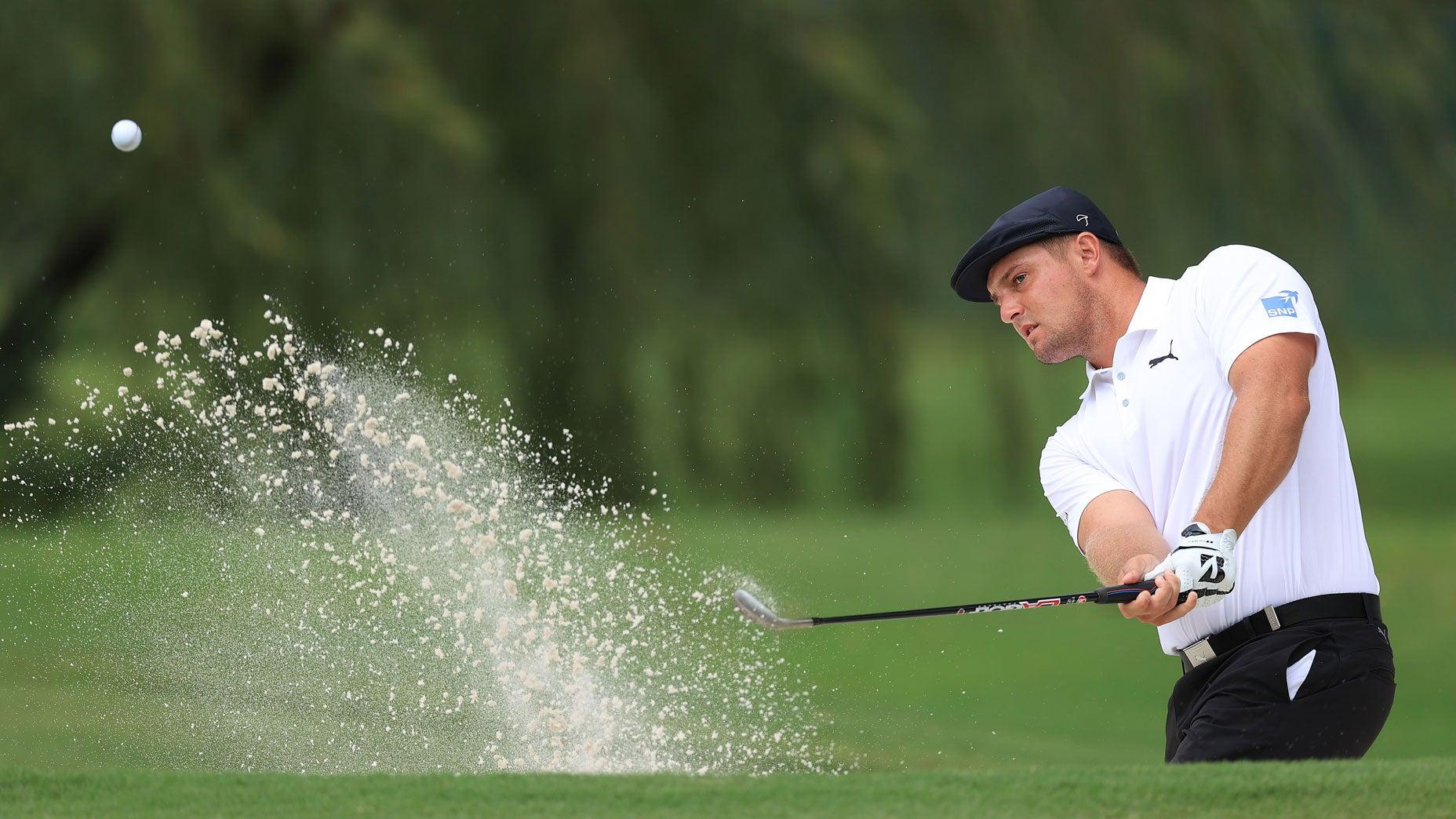 Bryson DeChambeau golfing