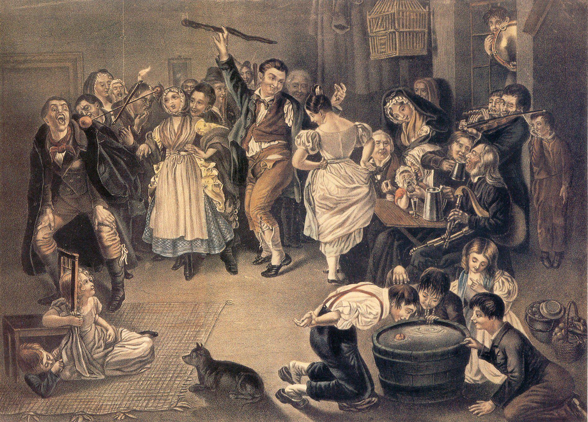 Daniel Maclise - Snap-Apple Night - 1833