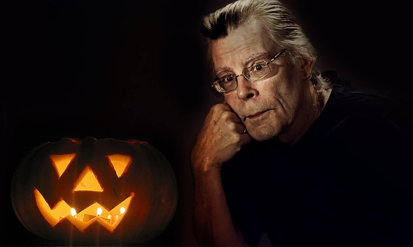 Stephen King on Halloween Pumpkin
