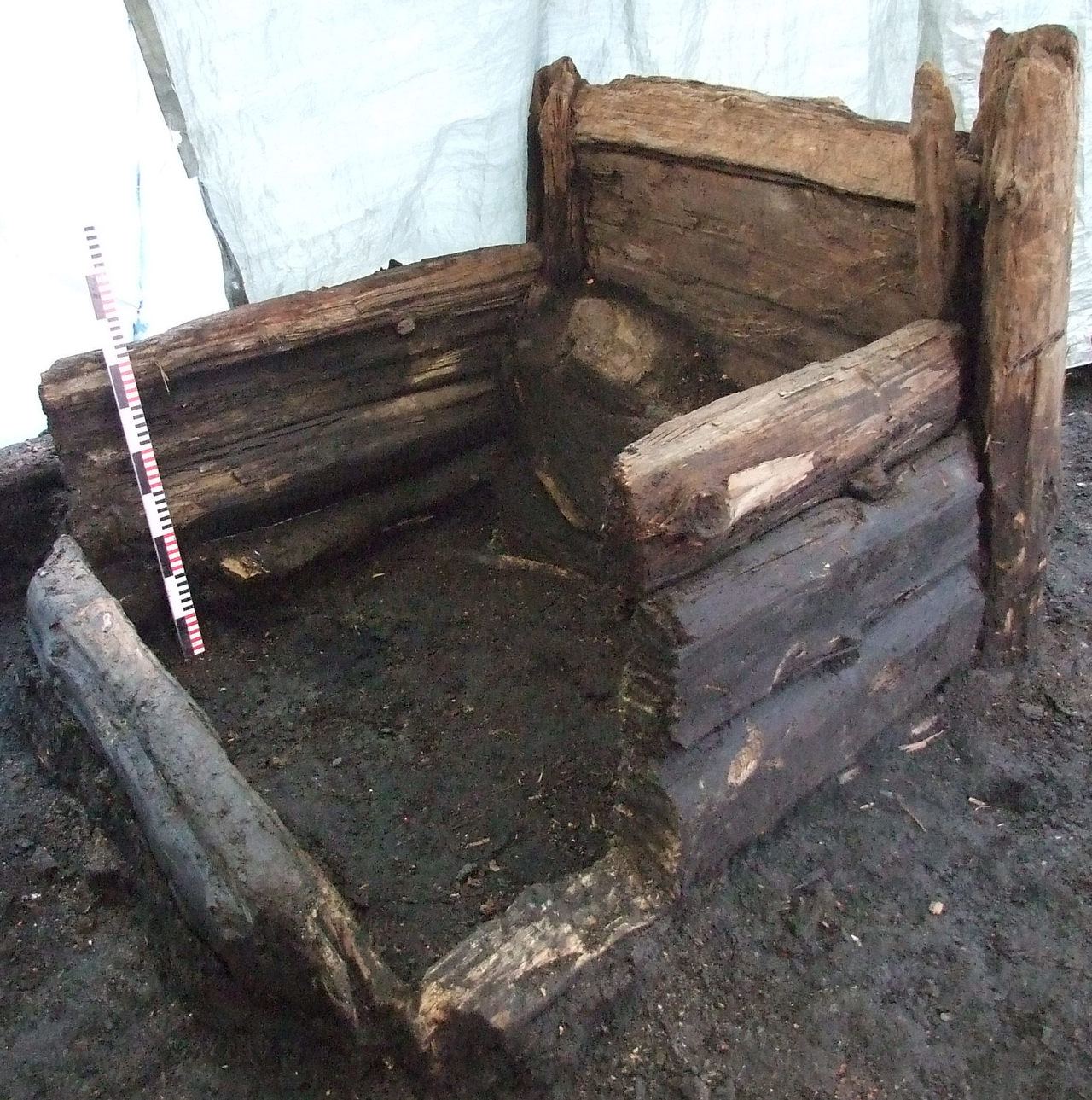 A 14th-century wooden latrine in Riga, Latvia (one of both used in Mitchell's study)