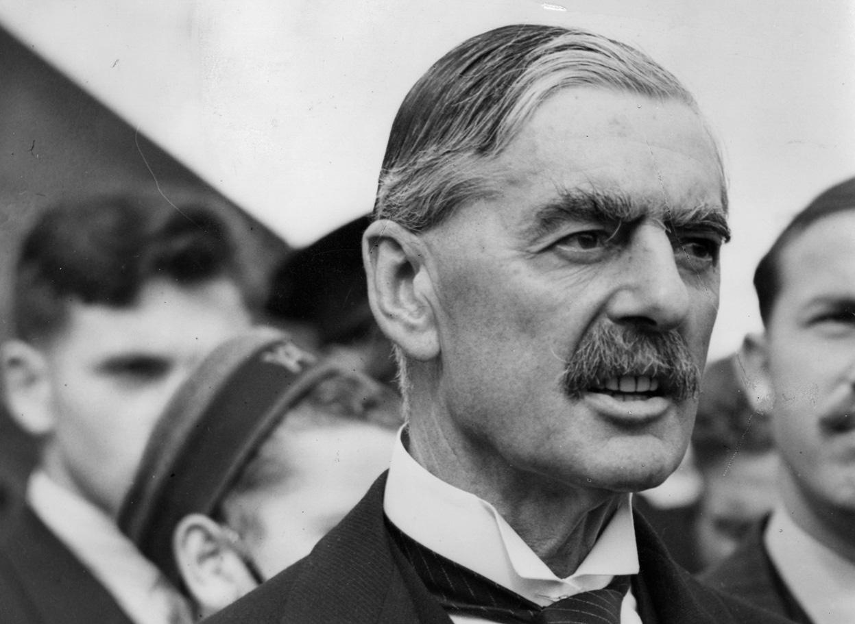 Former UK's Prime Minister Neville Chamberlain