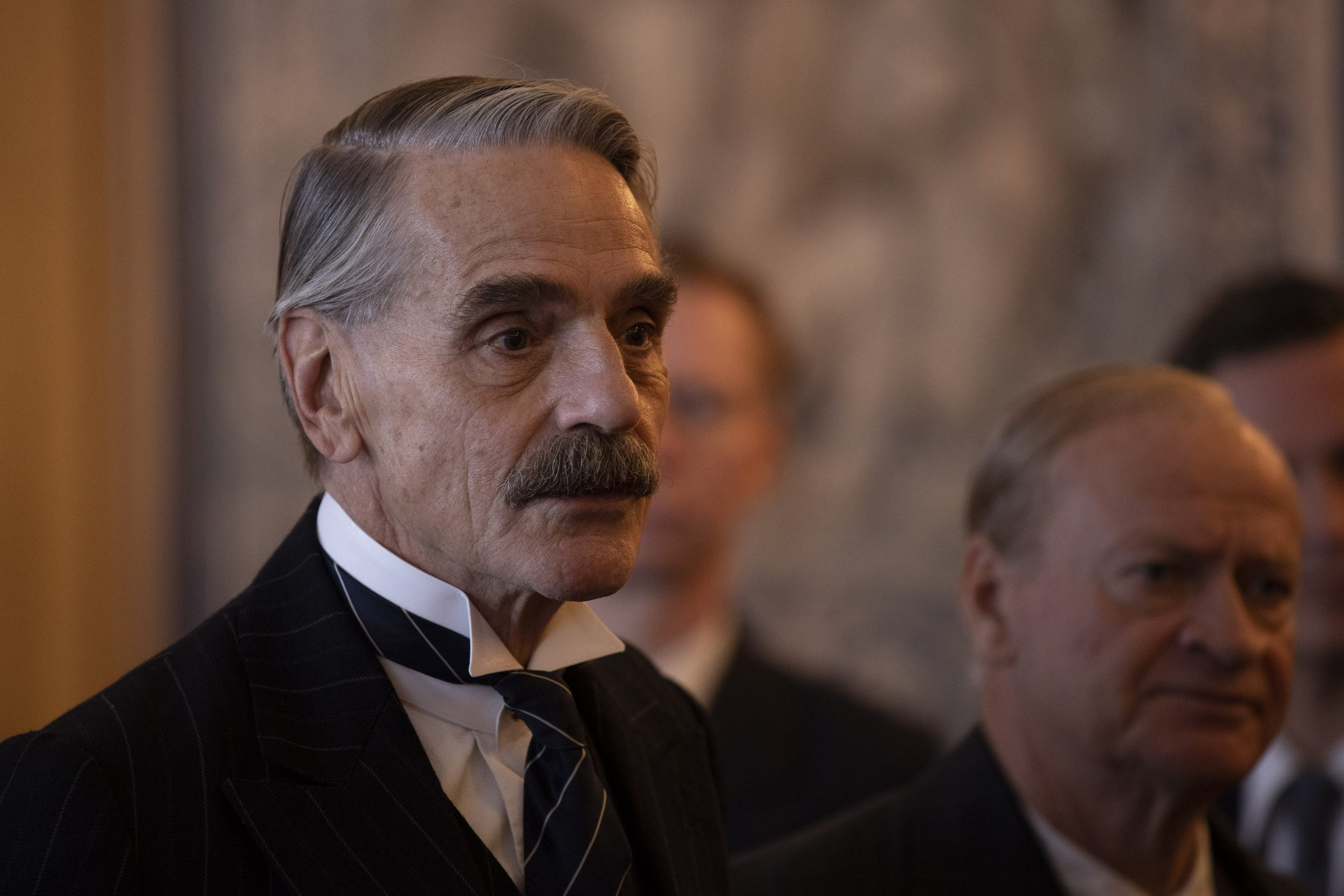 Jeremy Irons as UK's Prime Minister Neville Chamberlain in Munich