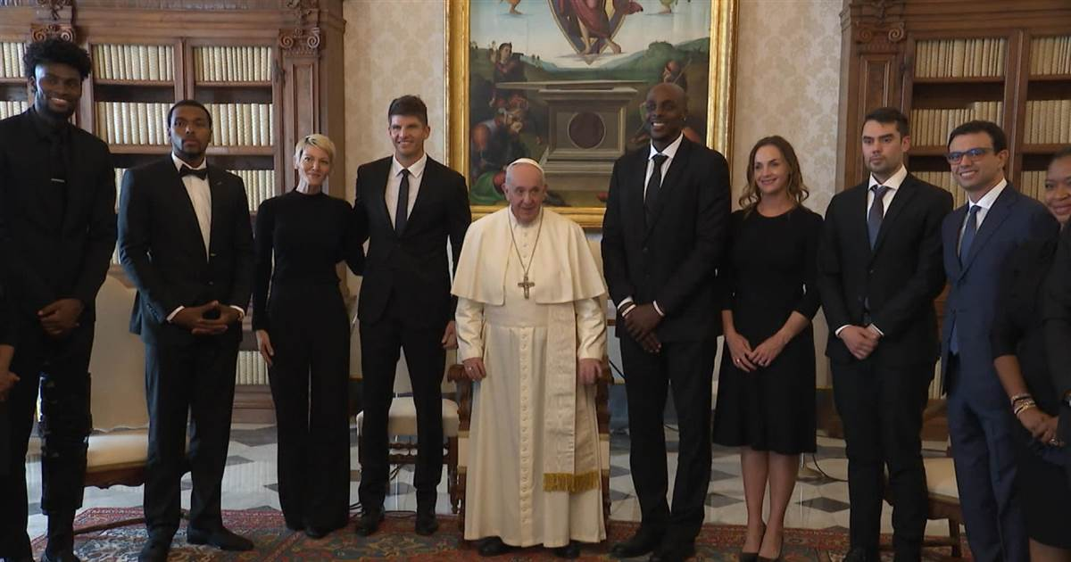 NBA players meeting Pope Francis