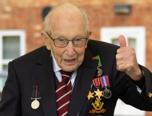 Captain Sir Tom Moore Begins a Walking Initiative to Help the Lonely