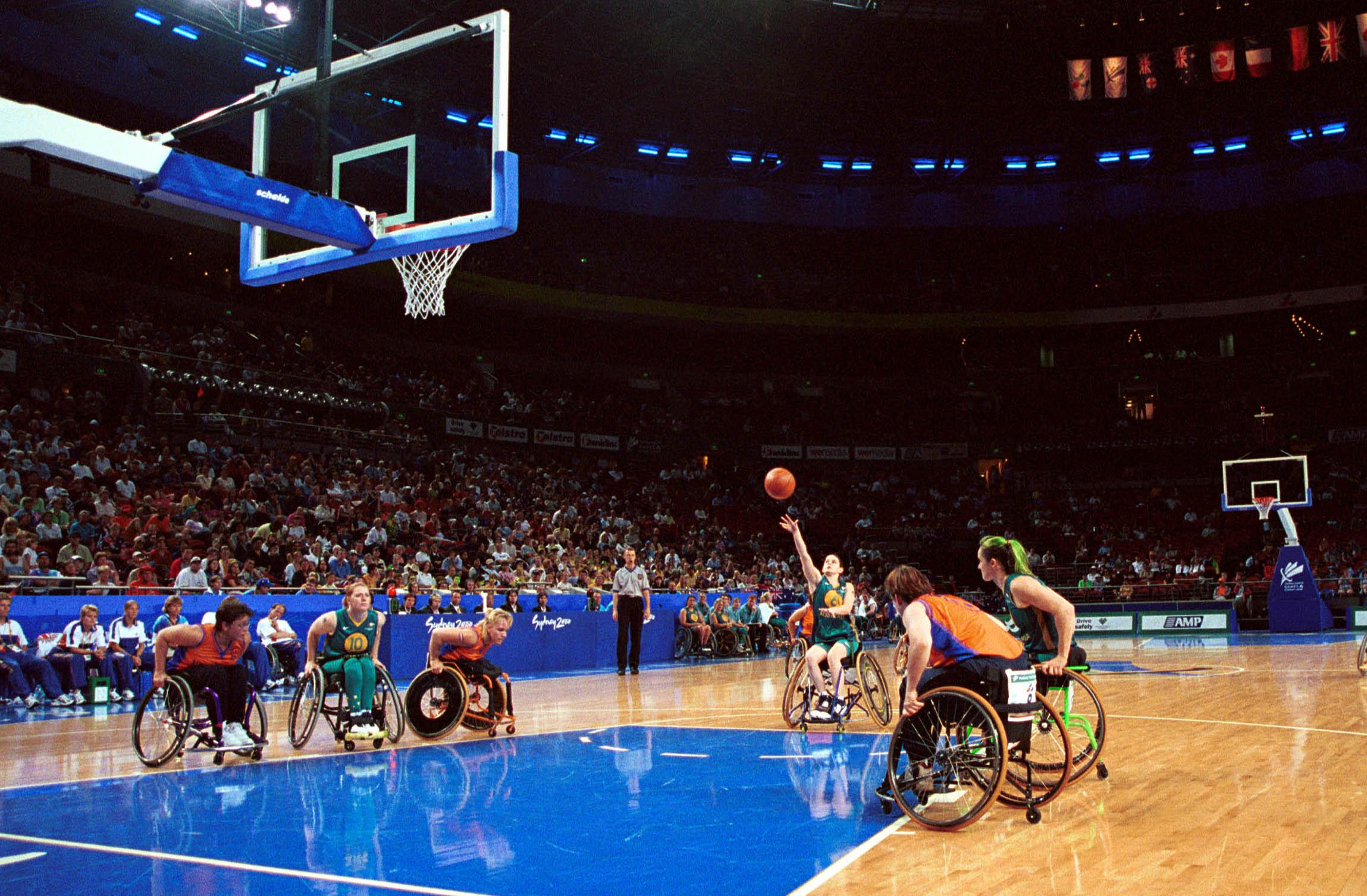 Sydney 2000 Paralympic Games Wheelchair Basketball, Day 02, Women's Melissa Dunn, AUS
