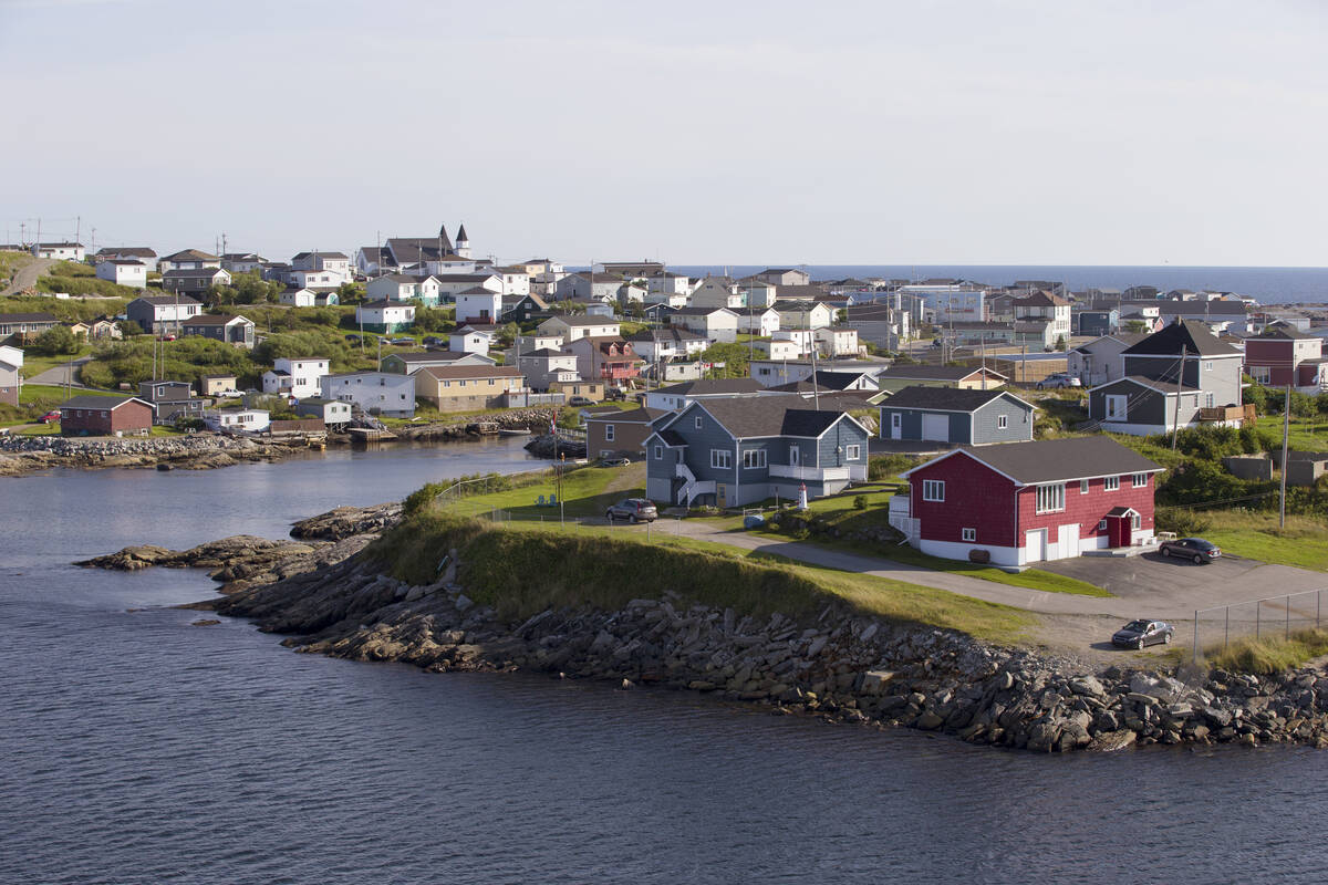 Panoramic view of Canadian town Channel-Port aux Basques