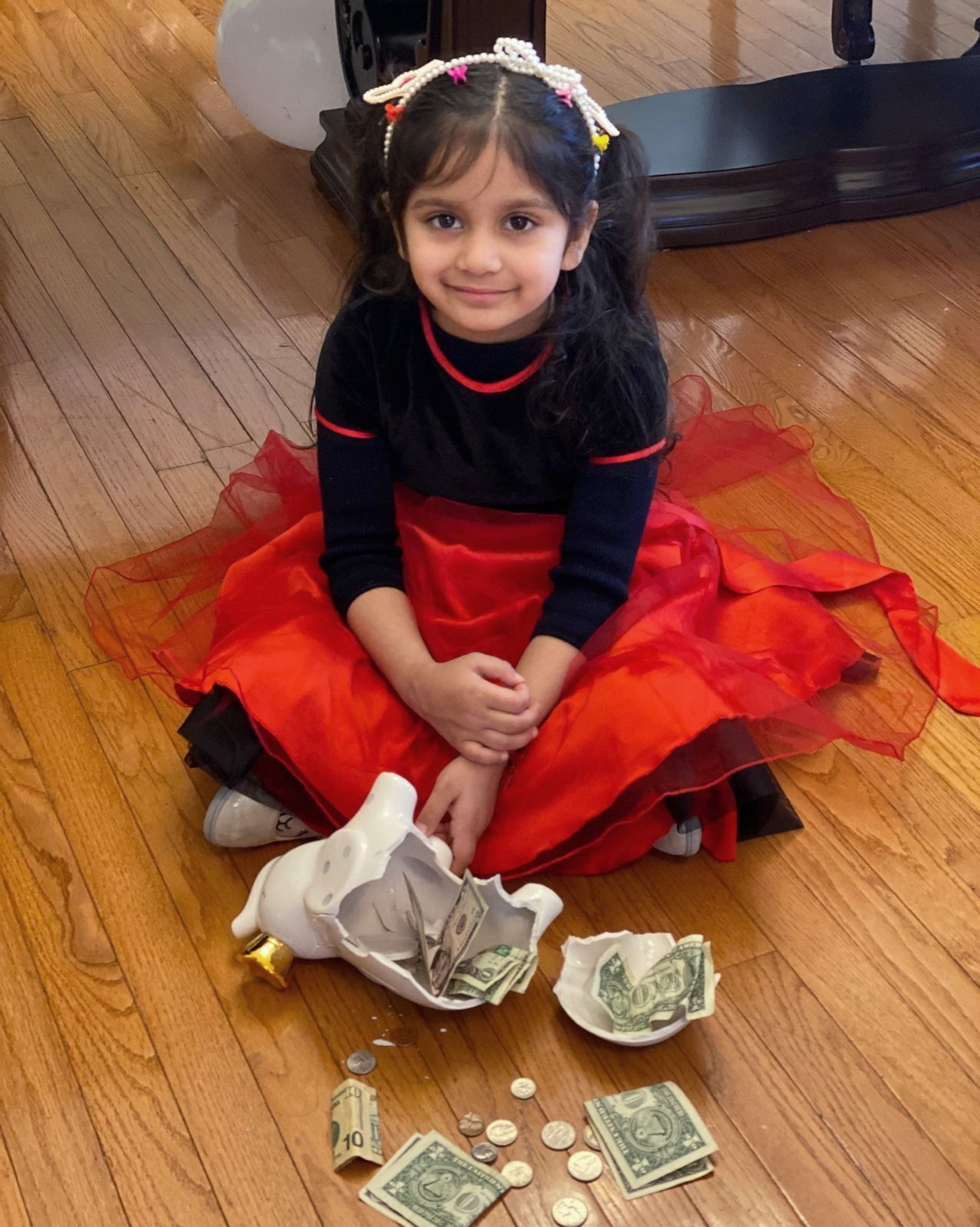Aryana Chopra using Piggy Bank money for nursing home gifts