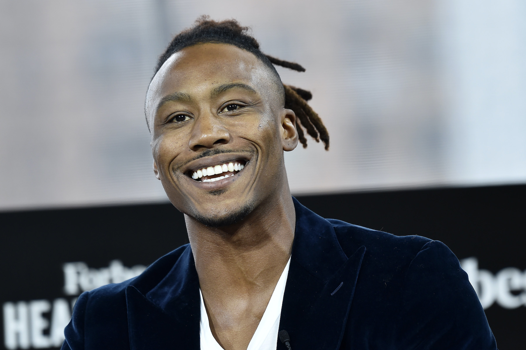 DECEMBER 05: NFL Wide Receiver and Executive Chairman & Co-Founder of Project 375, Brandon Marshall attends 2019 Forbes Healthcare Summit at the Jazz at Lincoln Center on December 05, 2019 in New York City.