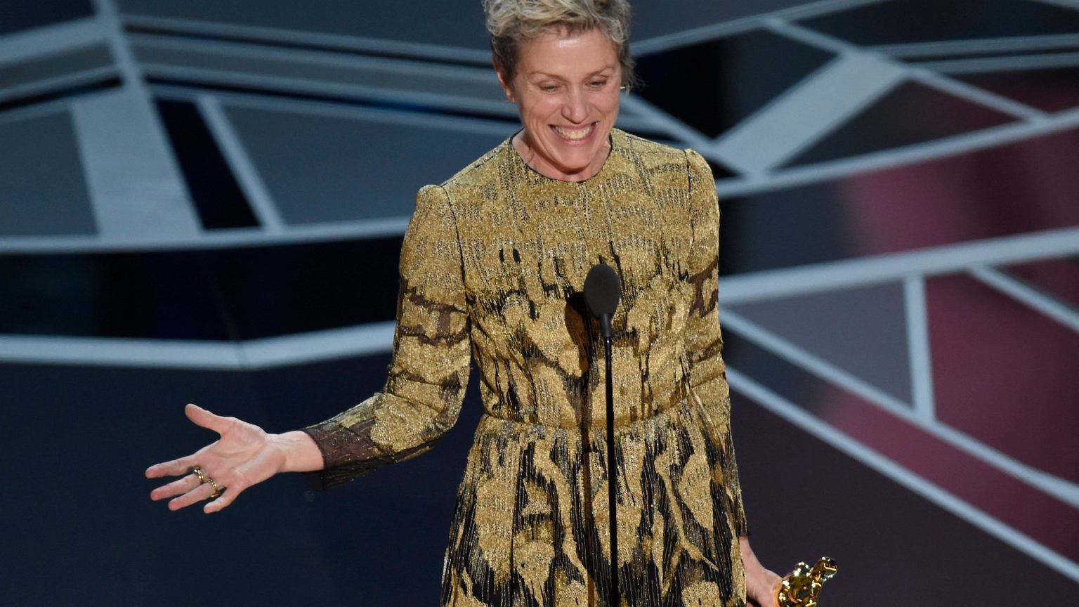 Frances McDormand wins Best Actress at the 90th Oscars® in 2018