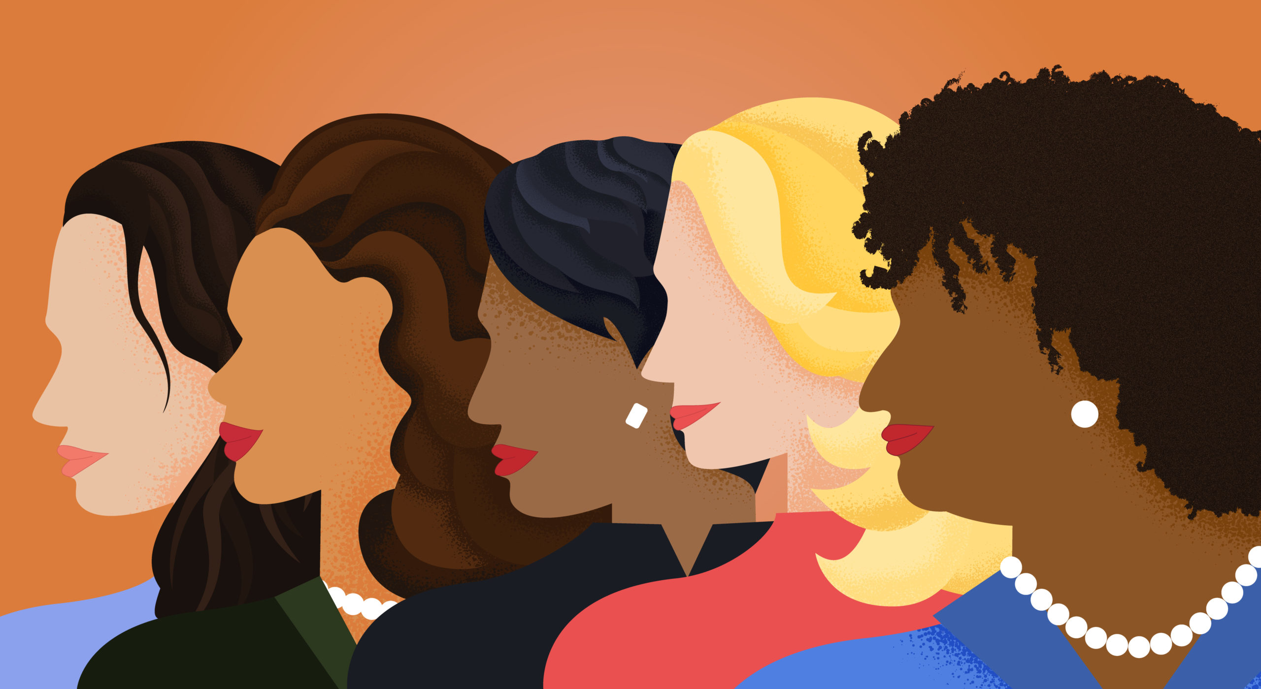 women profiles of all colors