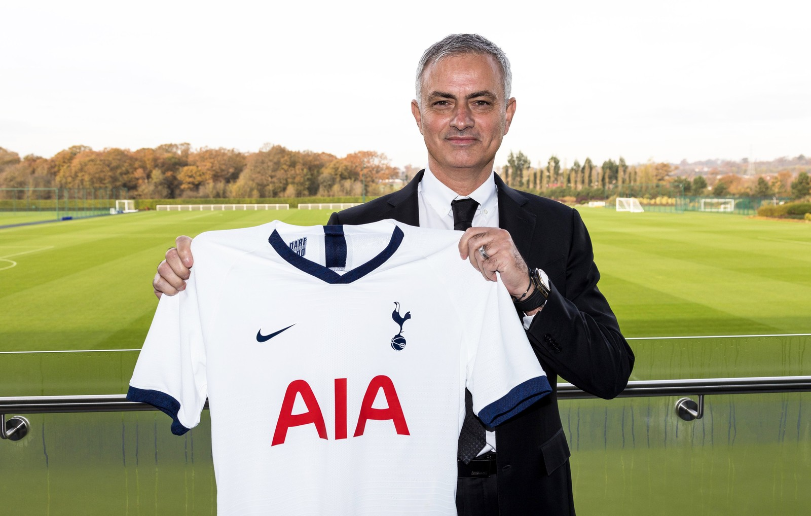 Portuguese manager Jose Mourinho being presented as Tottenham Hotspur's new boss in November 2019