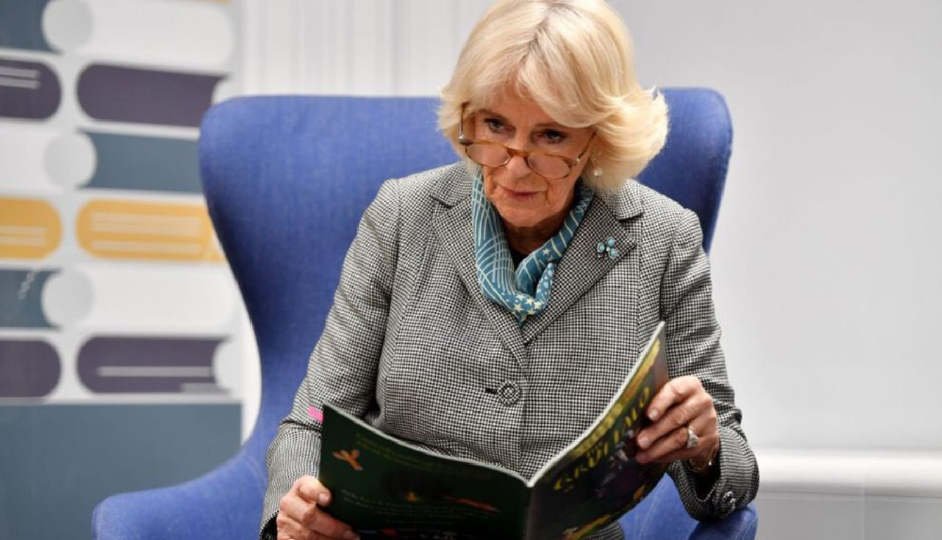Camilla Parker Bowles reading