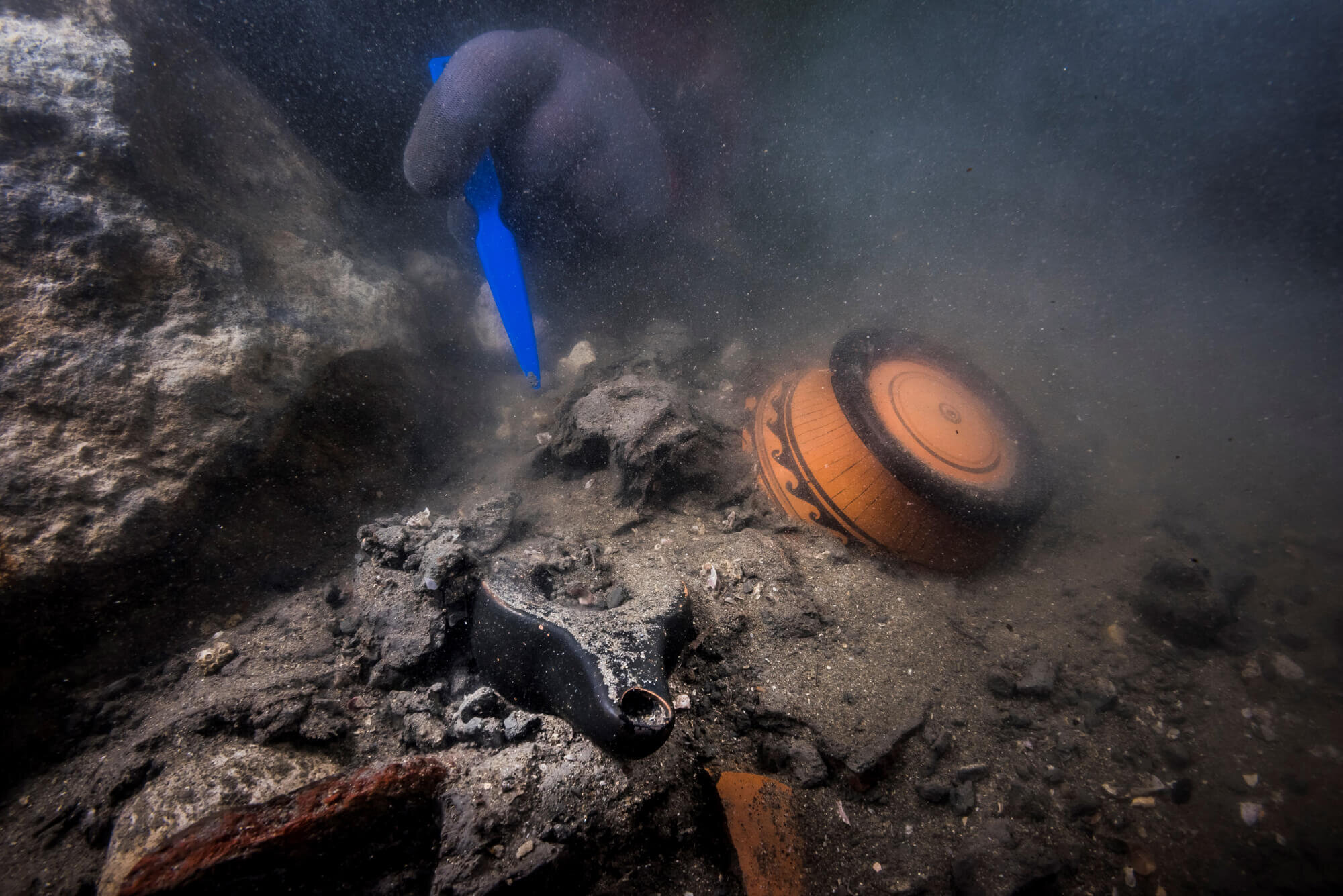Precious funerary offerings were deposited at the burial ground at Thonis-Heracleion, Egypt.