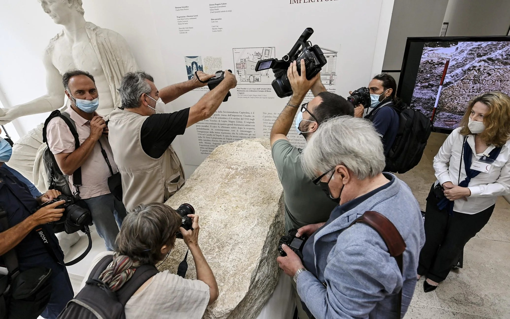 The Pomerium Stone On Display at the Museum