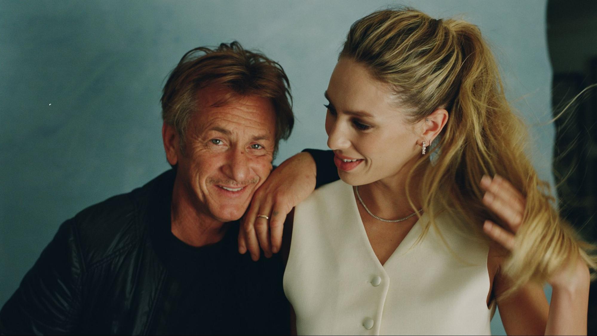Sean Penn and his daughter, Dylan Penn.