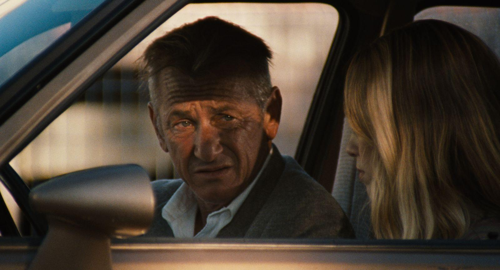 """Sean Penn and his daughter, Dylan Penn, in the movie """"Flag Day"""""""