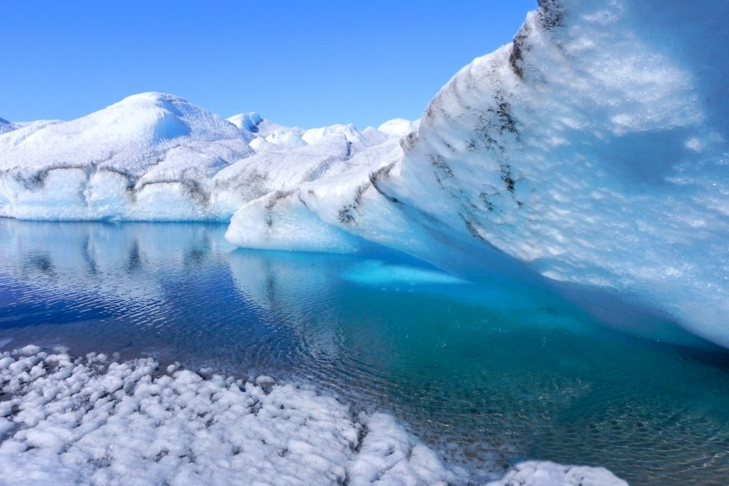 warm seawater at the base of Doomsday Glacier