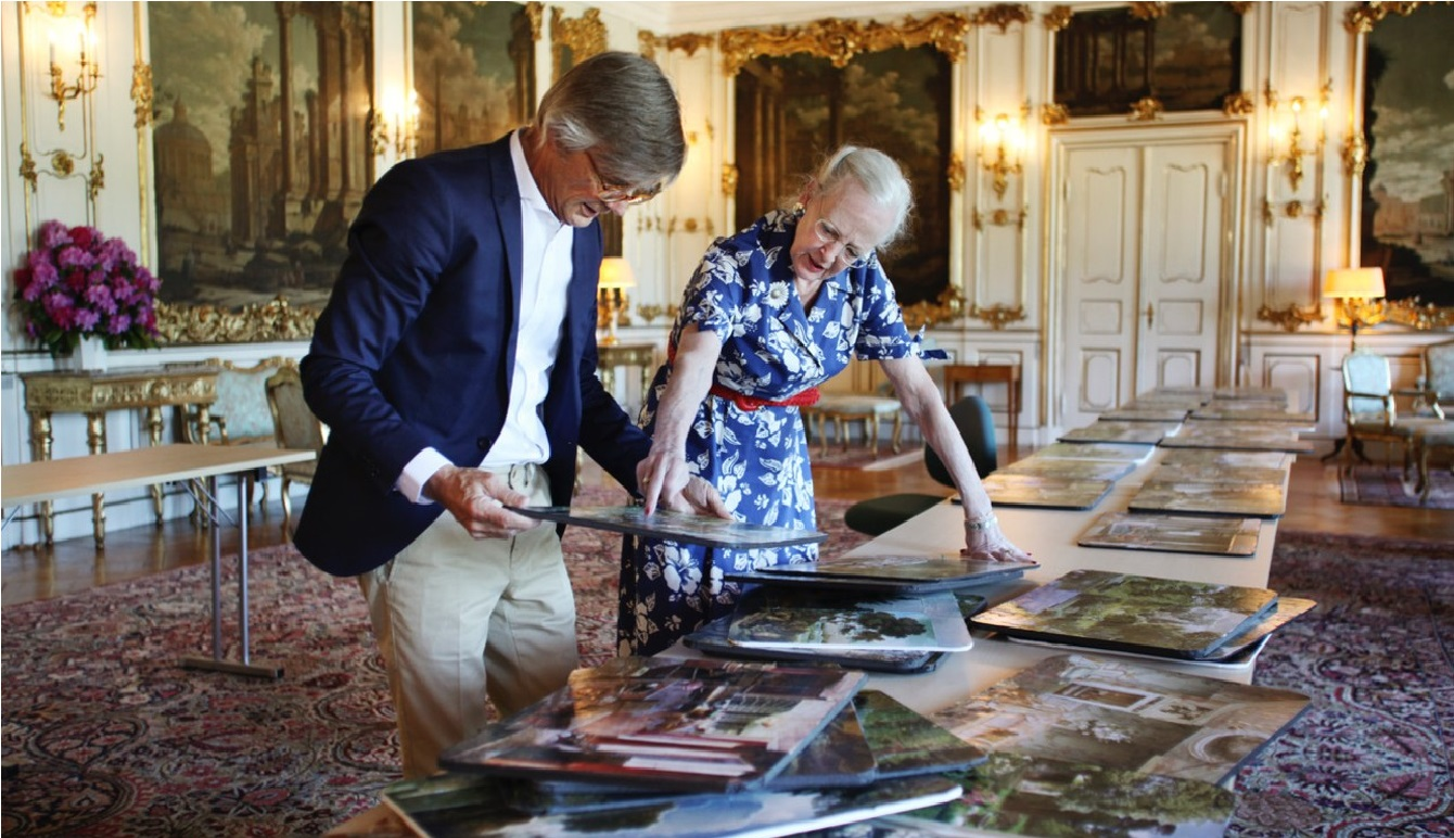 Billie August and Queen Margrethe II