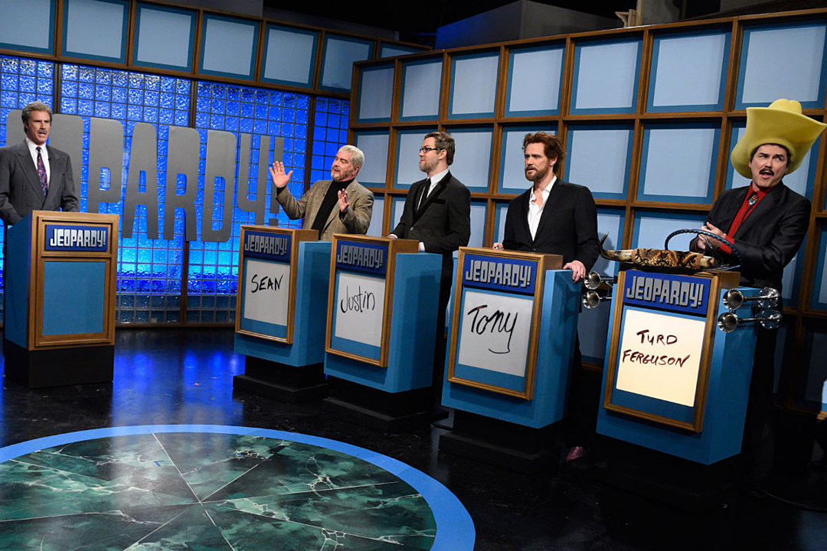 The Celebrity Jeopardy! Segment during the SNL's 40th-anniversary special with Norm MacDonald, Will Ferrell, Jim Carrey, Alec Baldwin, and Darrell Hammond reprising their iconic sketch roles.